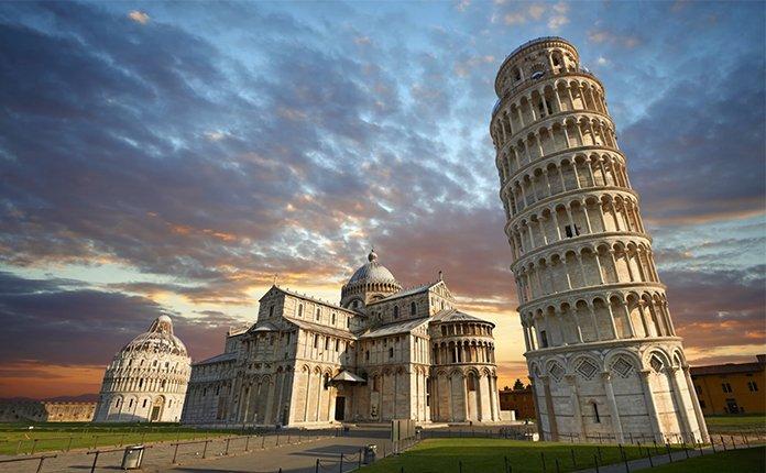 """Пизанская башня - где находится и почему она """"падающая""""?"""