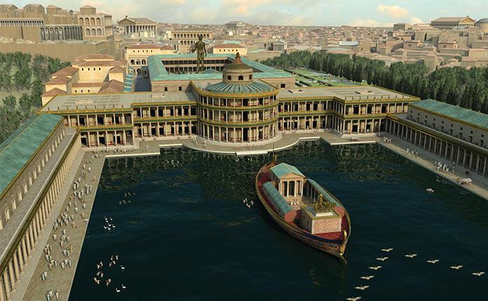 озеро до постройки Колизея