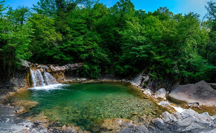 Водопады Жане