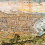 вид из горы Монтжуик в1563