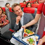 еда и напитки в самолете
