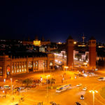 вечерний вид со смотровой площадки Arenas