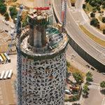 строительство башни Агбар