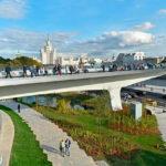 Парящий мост в Зарядье фото