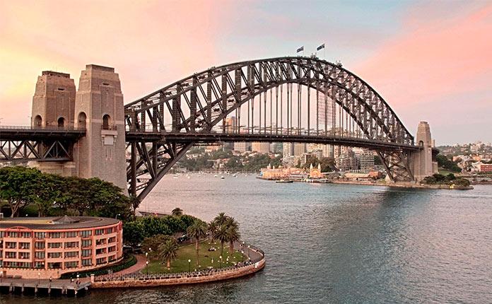 мост харбор бридж в австралии