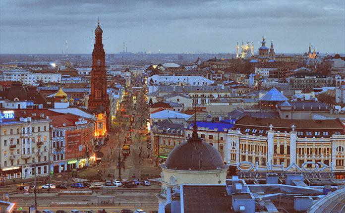 Улица Баумана в Казани