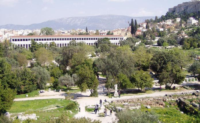 Афинская Агора в Греции
