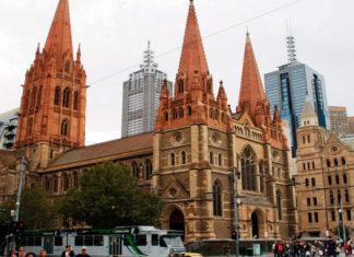 Собор Святого Павла в Мельбурне в Австралии